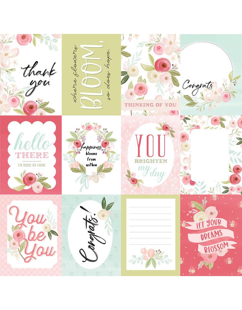 Carta Bella CB Flora 3 Paper: Subtle Journaling Cards