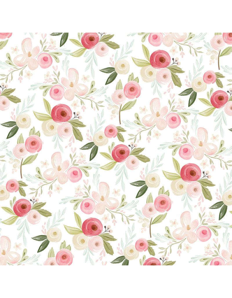 Carta Bella CB Flora 3 Paper: Subtle Large Floral