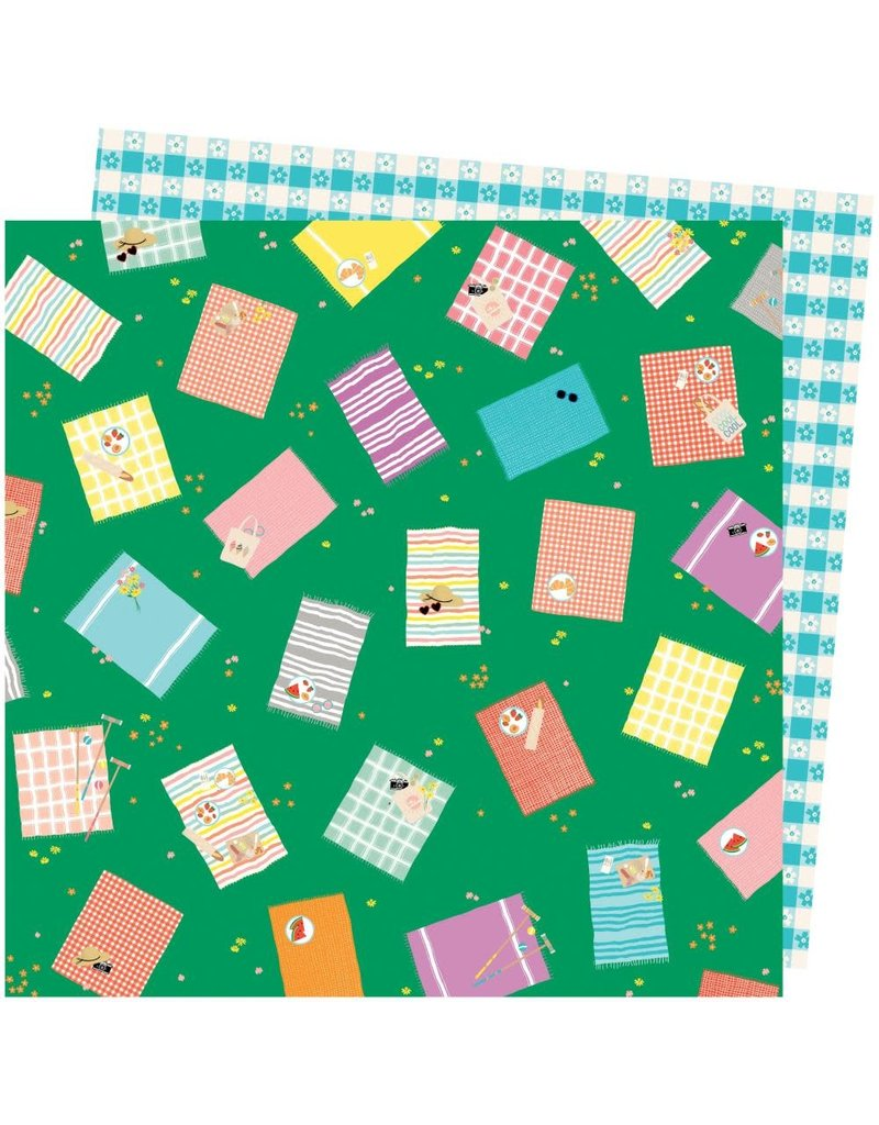 american crafts AC AT Picnic in the Park Paper: From above