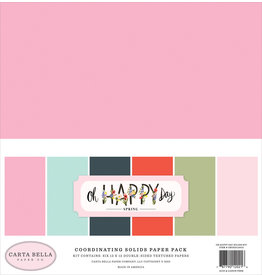 Echo Park CB Oh Happy Day: Solids Paper Pack