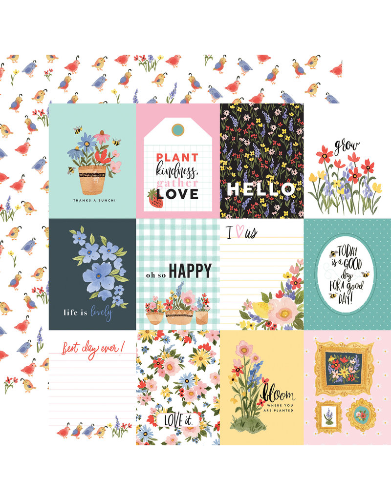Carta Bella CB Oh Happy Day Paper: 3x4 Journaling Cards