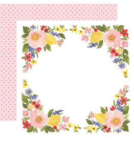Carta Bella CB Oh Happy Day Paper: Bloom Border
