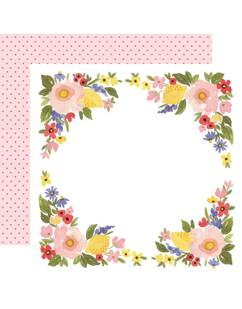 Carta Bella CB Oh Happy Day Paper: Bloom Border