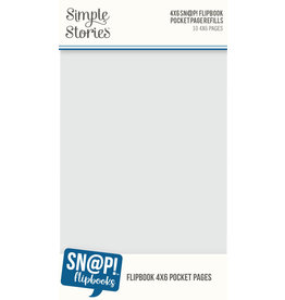simple stories 4x6 SN@P! Flipbook Pages - 4x6 Pack Refills
