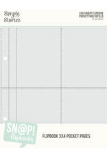 simple stories 6X8 SN@P! Flipbook Pages - 3x4 Pack Refils