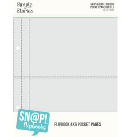 simple stories 6X8 SN@P! Flipbook Pages - 4x6 Pack Refills