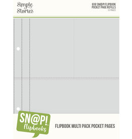 simple stories 6X8 SN@P! Flipbook Pages - Multi Pack Refills