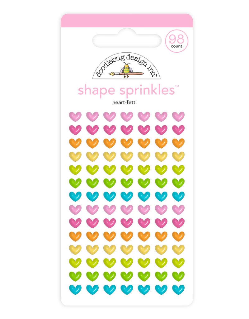 DOODLEBUG Doodlebug heart-fetti shape sprinkles