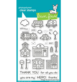 lawn fawn Village Heroes Stamp