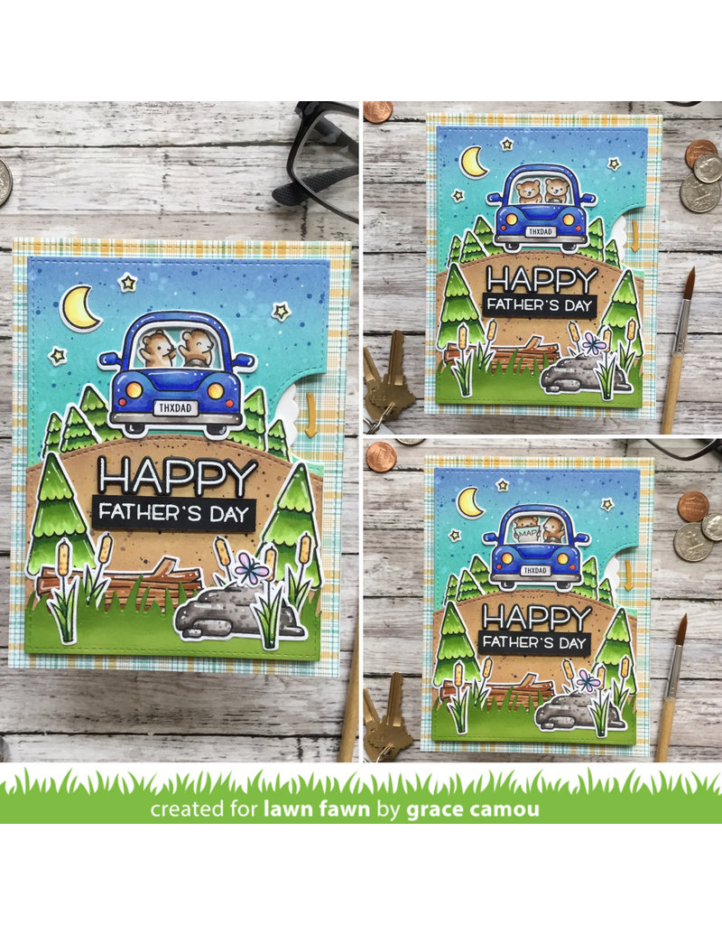 lawn fawn Car Critters Stamp