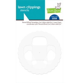 lawn fawn Reveal Wheel Templates: car critters add-on
