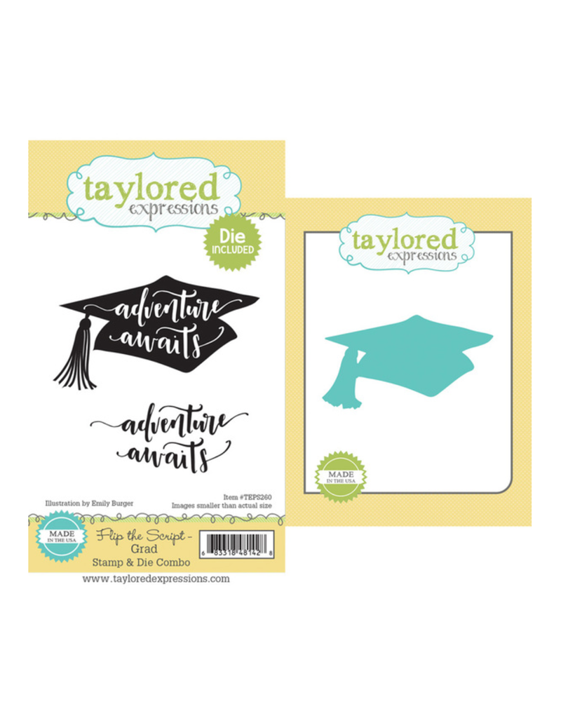 Taylored expressions FLIP THE SCRIPT - GRAD STAMP & DIE COMBO