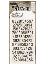stampers anonymous SA TH Digits Layering Stencil