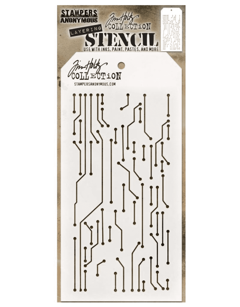 stampers anonymous SA TH Circut Layering Stencil
