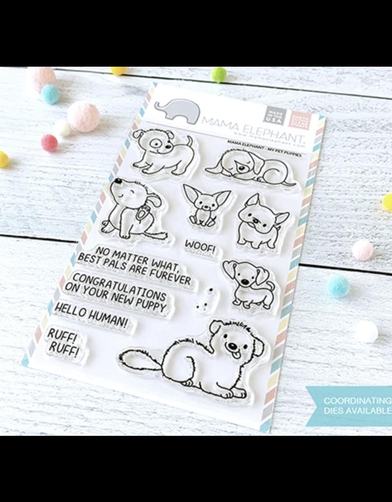 Mama elephant ME Stamp:My Pet Puppies