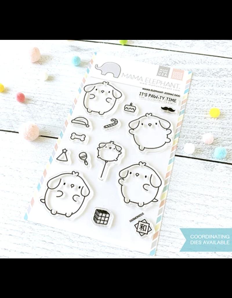 Mama elephant ME Stamp: Zodiac Dog