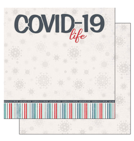 scrapbook customs COVID-19 Life Title  double sided paper