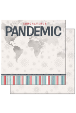 scrapbook customs COVID-19 Pandemic Title double sided paper