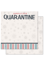 scrapbook customs COVID-19 Quaratine double sided paper
