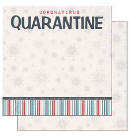 scrapbook customs COVID-19 Quaratine double sided paper