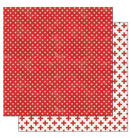 scrapbook customs COVID-19 Red Cross double sided paper