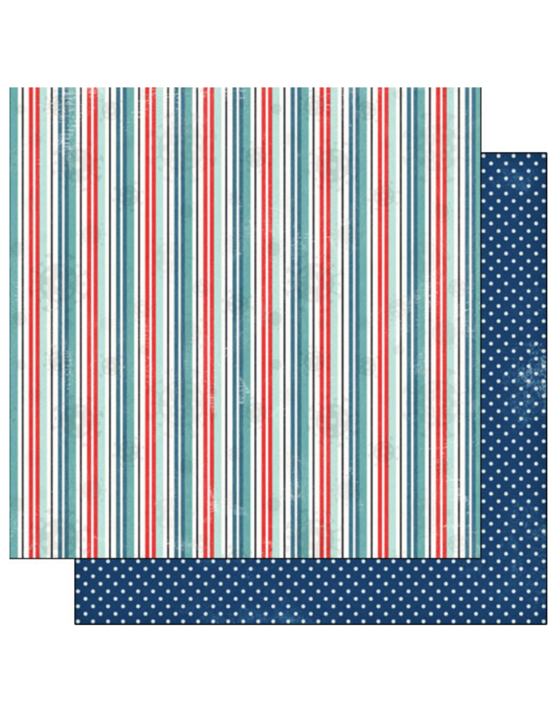 scrapbook customs COVID-19 Stripe Polka Dot double sided paper