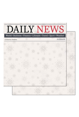 scrapbook customs COVID-19 Daily News double sided paper