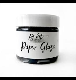 picket fences Paper Glaze Black Pansy