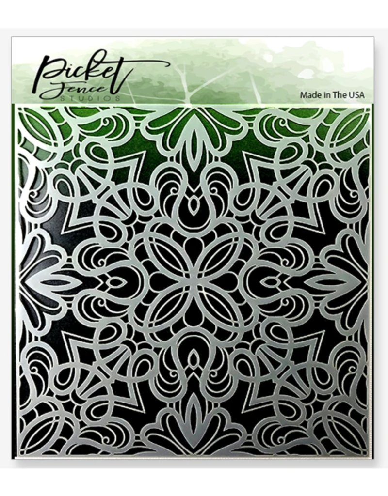 picket fences Fancy Flourishes Stencil