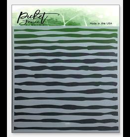 Picket Fence Watercolor Brush Strokes Stencil