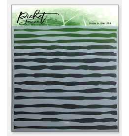 picket fences Watercolor Brush Strokes Stencil