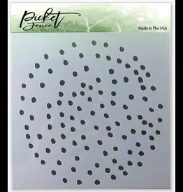 Picket Fence Polka Dot Stencil