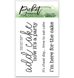 picket fences Cheat Day Stamp