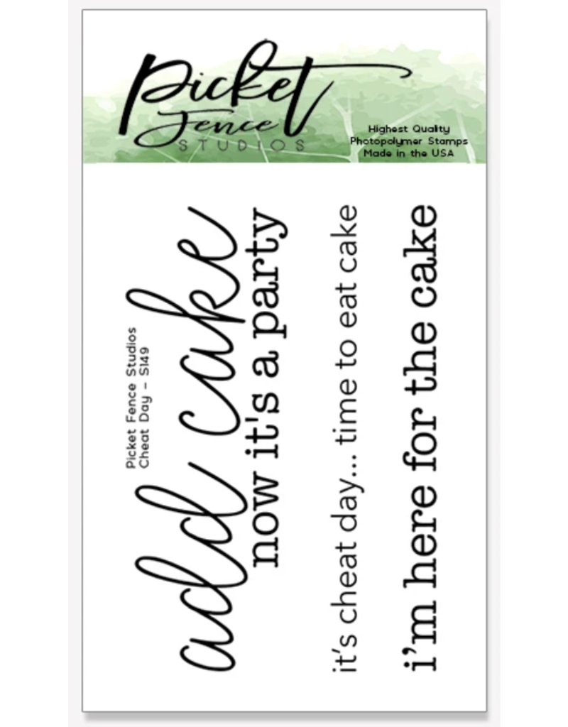 Picket Fence Cheat Day Stamp