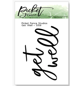 Picket Fence Get Well Stamp