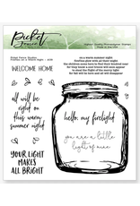 picket fences Fireflies on a warm night Stamp