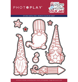 Photoplay Gnome for July 4th  Die Set