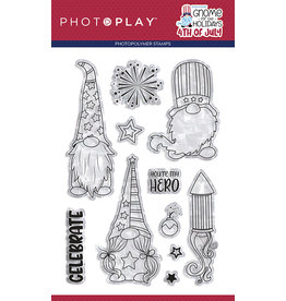 Photoplay Gnome for July 4th 4x6 Stamp