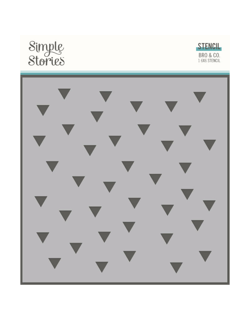 simple stories SS 6x6 Stencil-Retro Triangles Bro & Co.