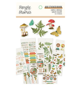 simple stories SS 4x6 Sticker Book SV Great Escape