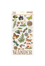 simple stories SS Chipboard Stickers-Simple Vintage Great Escape