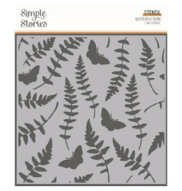 simple stories SS 6x6 Stencil Butterfly Fern SV Great Escape
