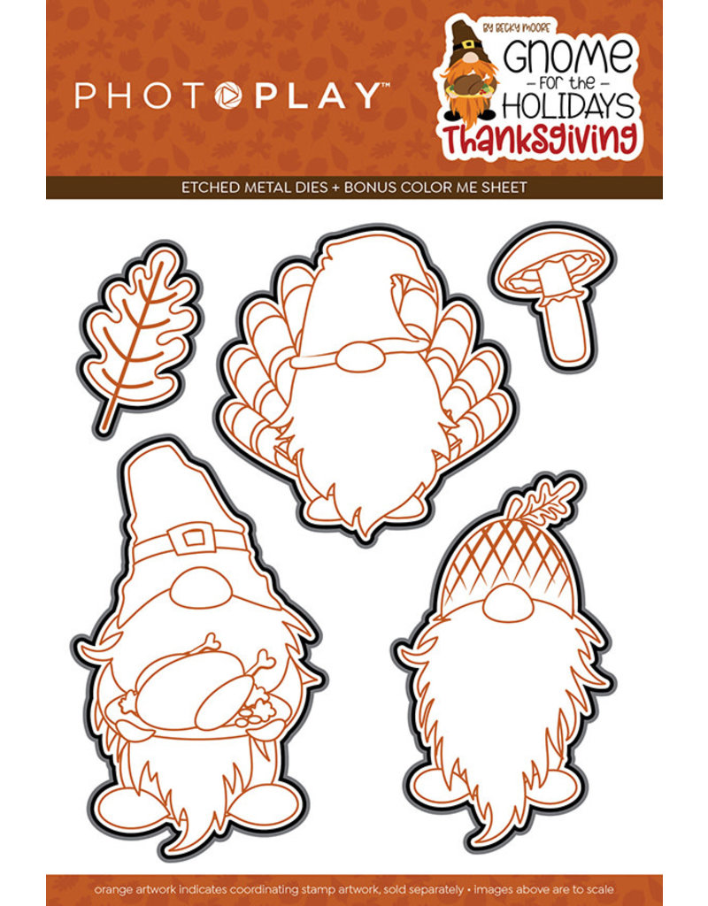 Photoplay Gnome for Thanksgiving Die Set