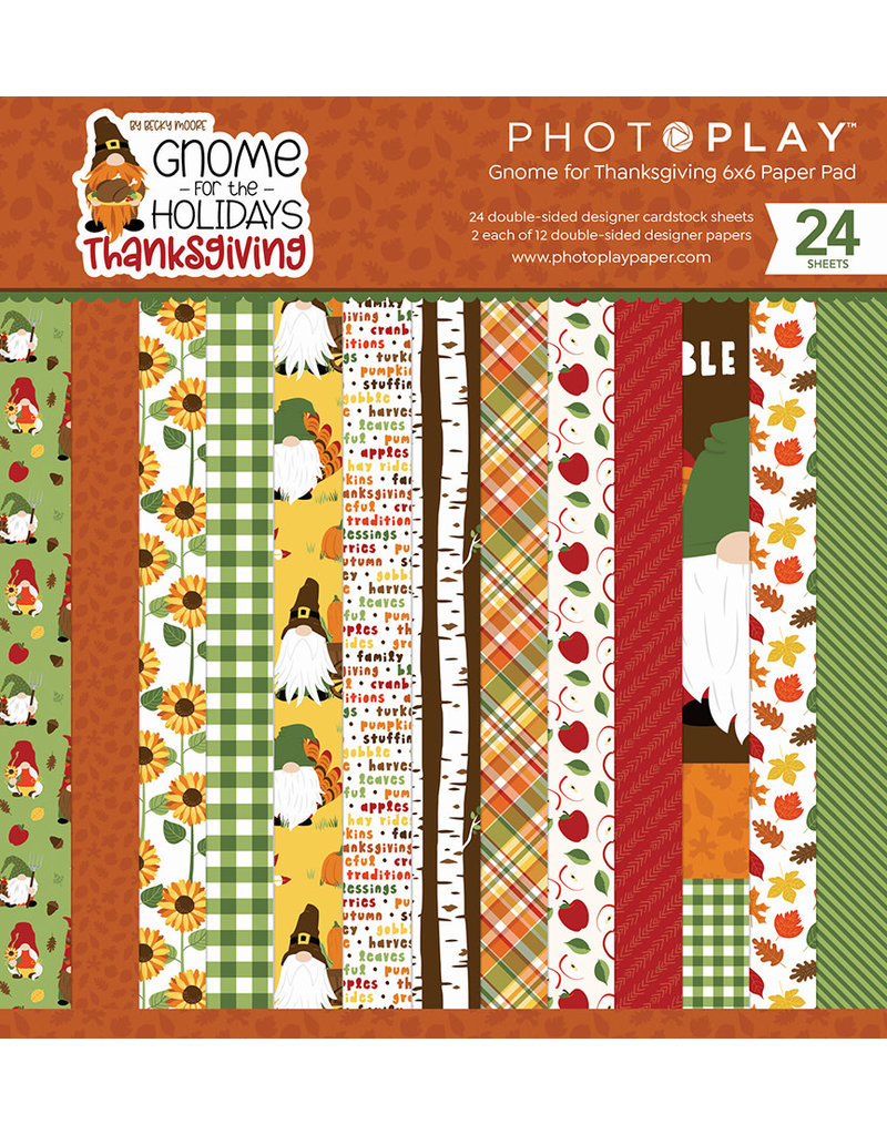 Photoplay Gnome for Thanksgiving 6x6 Pad