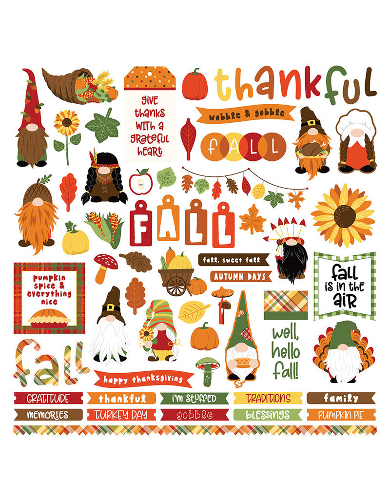 Photoplay Gnome for Thanksgiving Element Sticker