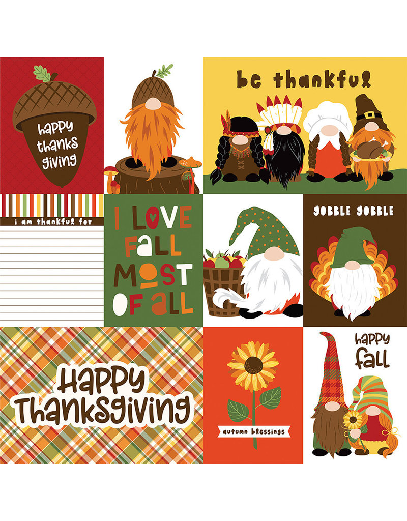Photoplay Gnome for Thanksgiving Paper: Gobble Gobble