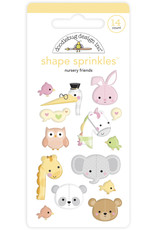 DOODLEBUG bundle of joy: nursery friends shape sprinkles