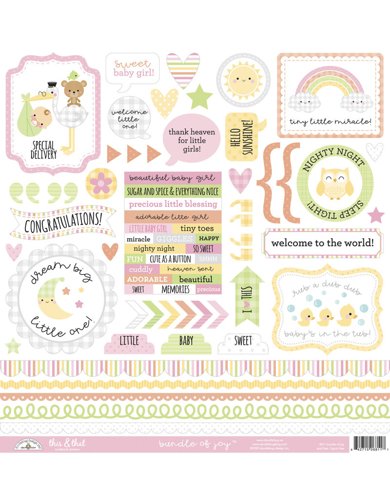 DOODLEBUG bundle of joy: bundle of joy this & that sticker