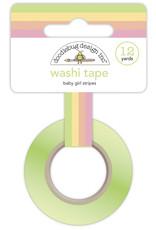 DOODLEBUG bundle of joy: baby girl stripes washi tape