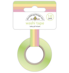 DOODLEBUG bundle of joy: baby girl stripes washi tape